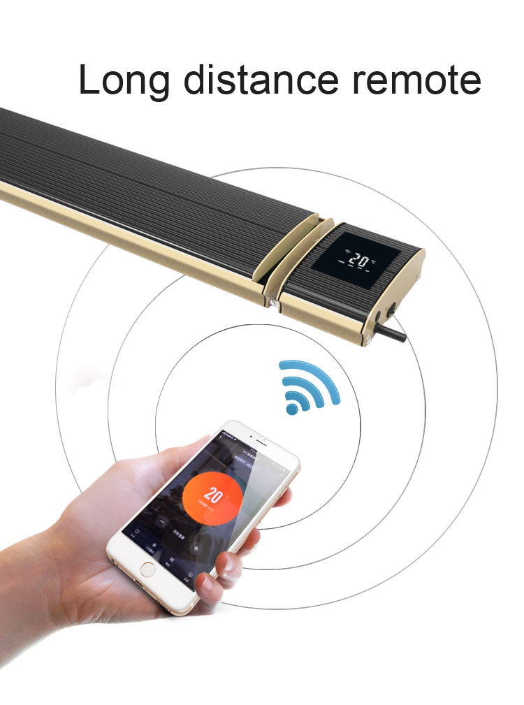 JH heater designed the newest TUYA App WIFI Controlled infrared heater in fifth, June, 2019.